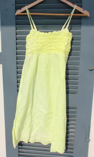 Kleid neongelb