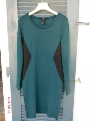 Kleid grün schwarz